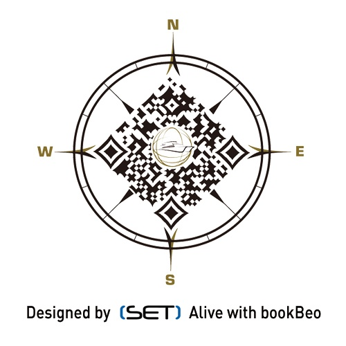 QR Code bookBeo designé pour la compagnie Azénor.