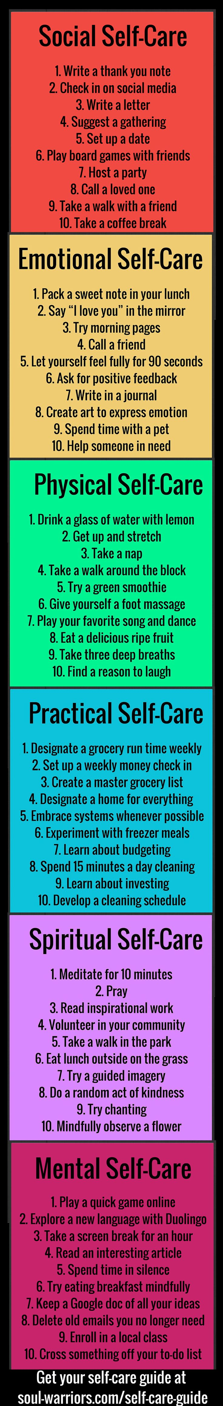 //Step up your self care with this free printable guide - click through to http://www.soul-warriors.com/self-care-guide/ to download your copy.#goodtoknow