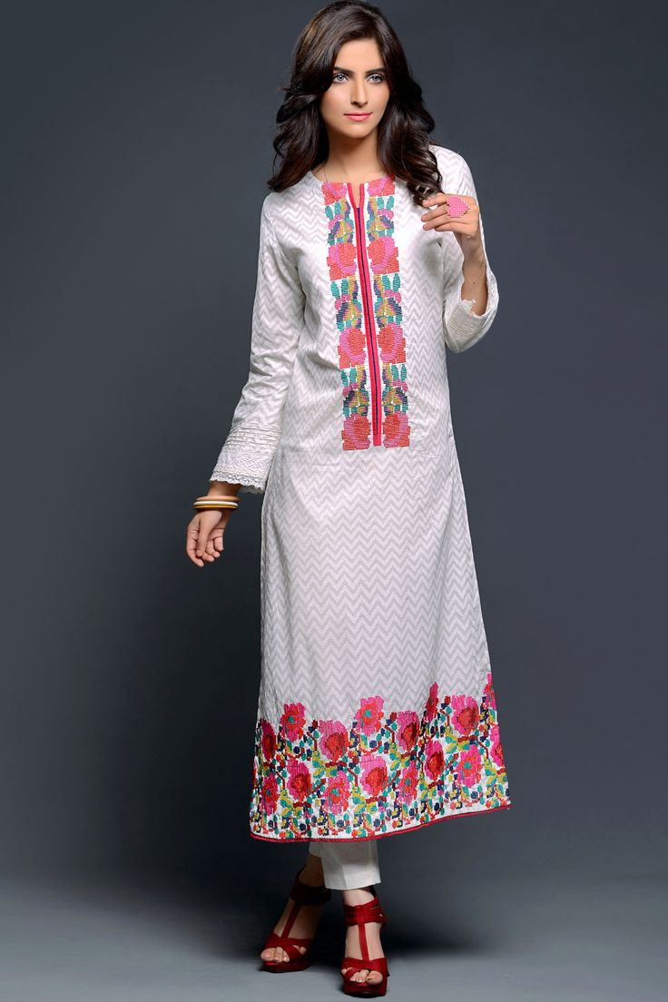 "Product code: VRV-0767-LD 02 PCS SUIT ""SHIRT + TROUSER"" PRINTED + EMBROIDED  Shop Online www.nimsay.pk"