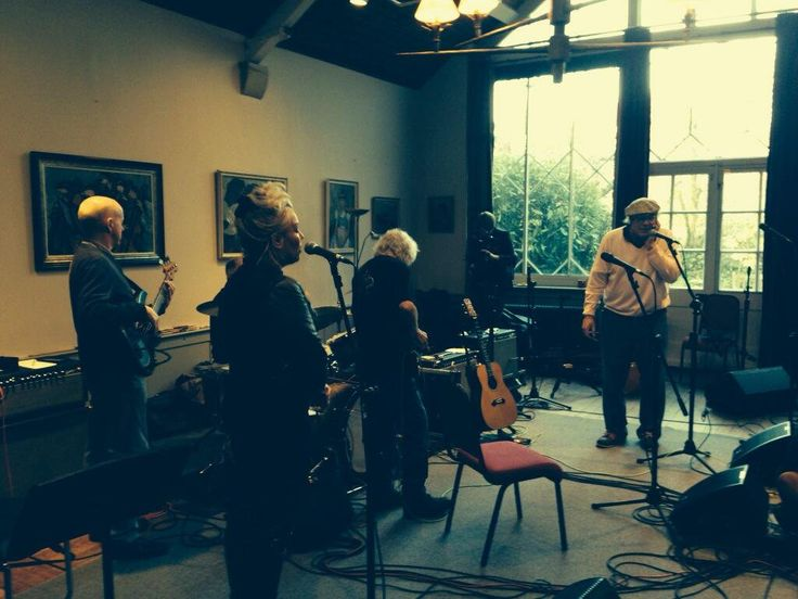 February 26, 2014: Rehearsals today for Albert Lee gigs this weekend at Cadogan Hall, Chelsea