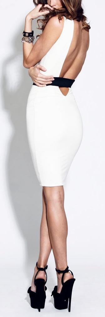 Plunge Back Dress