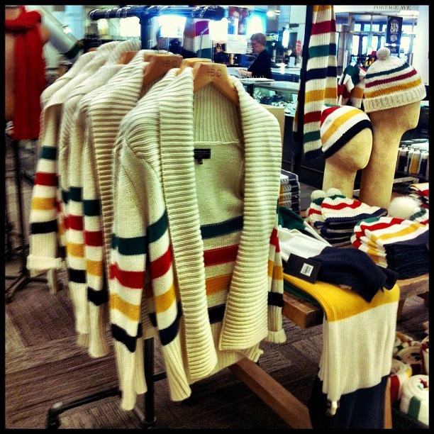 a Hudson Bay Company sweater that would look great on the ice...