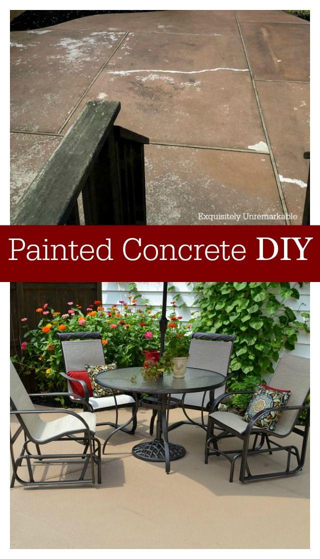 How To Paint Concrete Patio Makeover Concrete Patio Makeover Patio Makeover Paint Concrete Patio