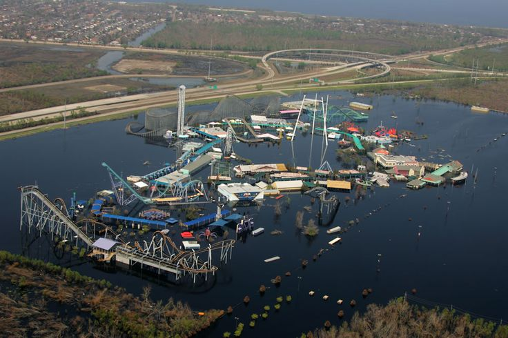 Hurricane Katrina destroyed Six Flags Louisiana