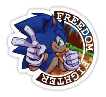 """Freedom Fighter: Sonic"" Stickers by Swirlything 