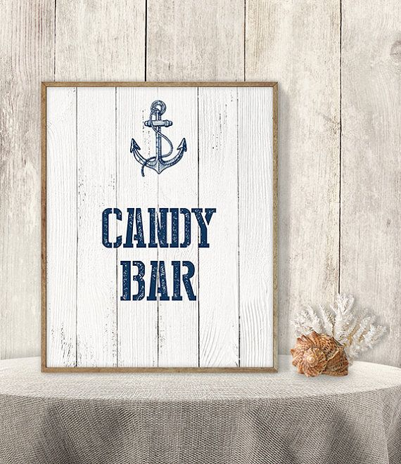 Candy Bar Sign // Wedding Reception Dessert by JadeForestDesign