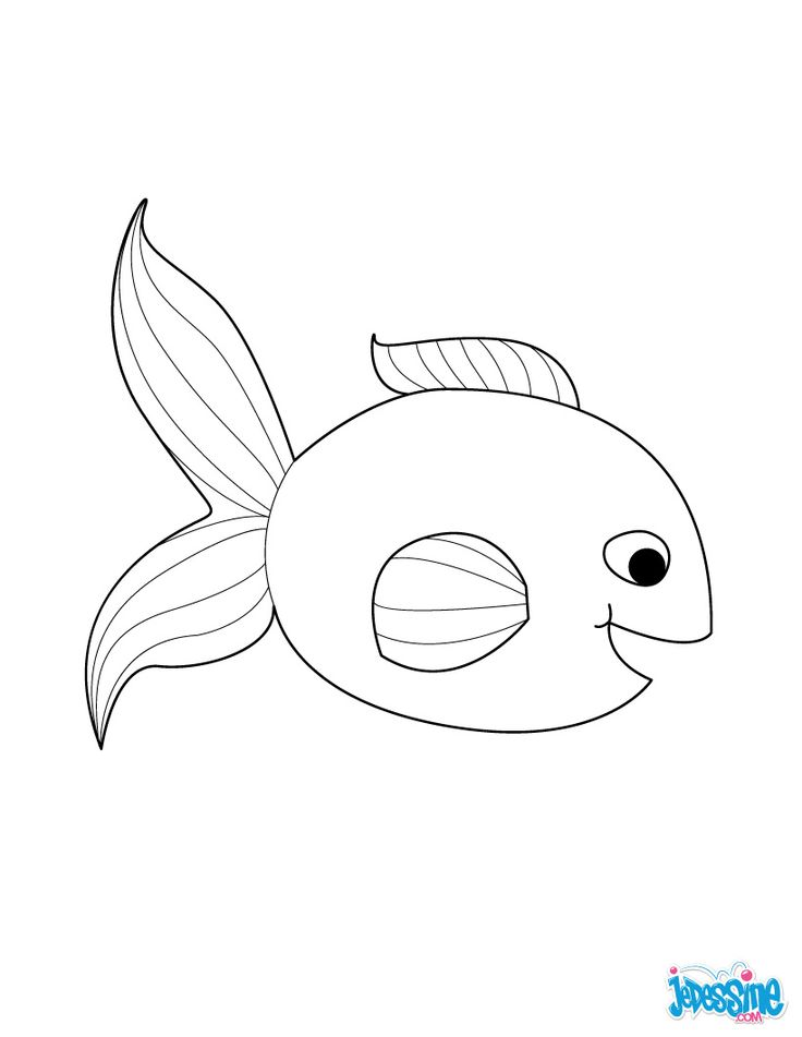 Coloriage poisson d 39 avril souriant activit manuel - Coloriage avril ...