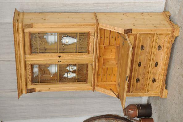 Antik im Hof - Über 1000 Antiquitäten: Aufsatzsekretär antik Sekretär mit Vitrine Gründerzeit Jugendstil