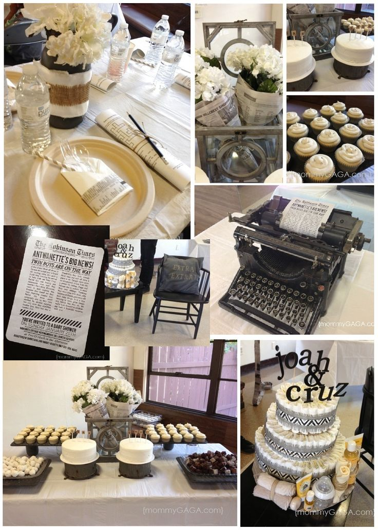 We Love This Black And White News Stand Baby Shower Theme, Such A Creative  Idea! This One Was For Twin Boys, But You Coud Use This Baby Shower Party  Idea ...