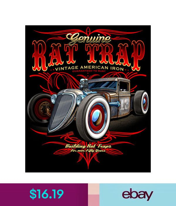 Rat Trap Hot Rod Rat Rod Rust Vintage Iron Hoodie Pull Over Black