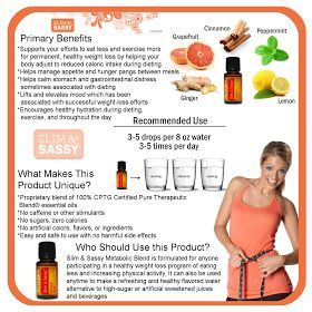 essential oils for dummys: Slim & Sassy