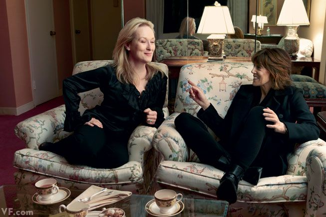 Actors and Directors | Director Nora Ephron with Meryl Streep  Three films together: Silkwood (1983) and Heartburn (1986) with Ephron as writer, and Julie & Julia (2009) with Ephron as writer-director. | Annie Leibovitz #leibovitz