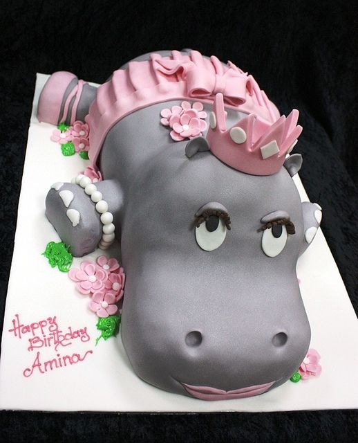 hippo ballerina cake by The House of Cakes Dubai, via Flickr