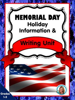 This is a great unit for helping students in grades 1-5 understand the meaning of Memorial Day. Pg. 1 Cover PagePg. 2. Informational Sheet About the Holiday to Read to StudentsPg. 3 & 4 Acrostic Poems with self rating system at the bottomPg. 5 Home of the Free Because of the Brave Printable (I have them draw pictures of what a solder looks like after we search solders on the internet.)Pg. 6 Informational Writing for Memorial Day Planning PagePg. 7 Informational Writing PagePg. 8 Thank Yo...