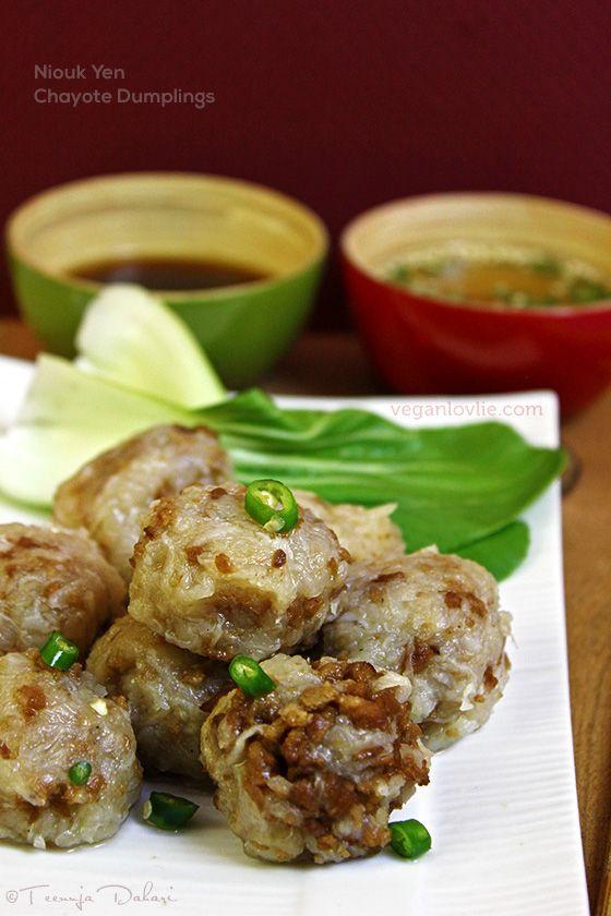 Niouk Yen, chayote dumplings, boulette chouchou mauricien
