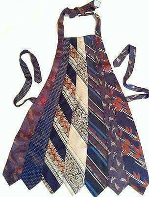 Ties into aprons