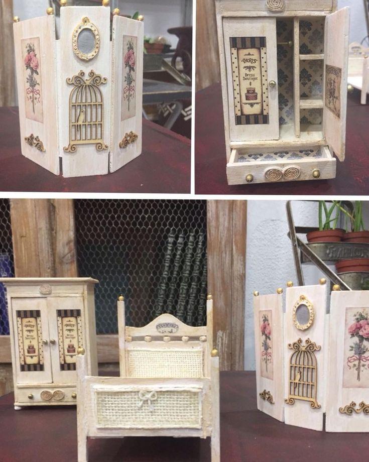 """0 Me gusta, 1 comentarios - La Restauradora (@tallerlarestauradora) en Instagram: """"Muebles para casa de muñecas realizados por Mercedes en nuestro taller. La escala es 1/12 y los ha…"""""""
