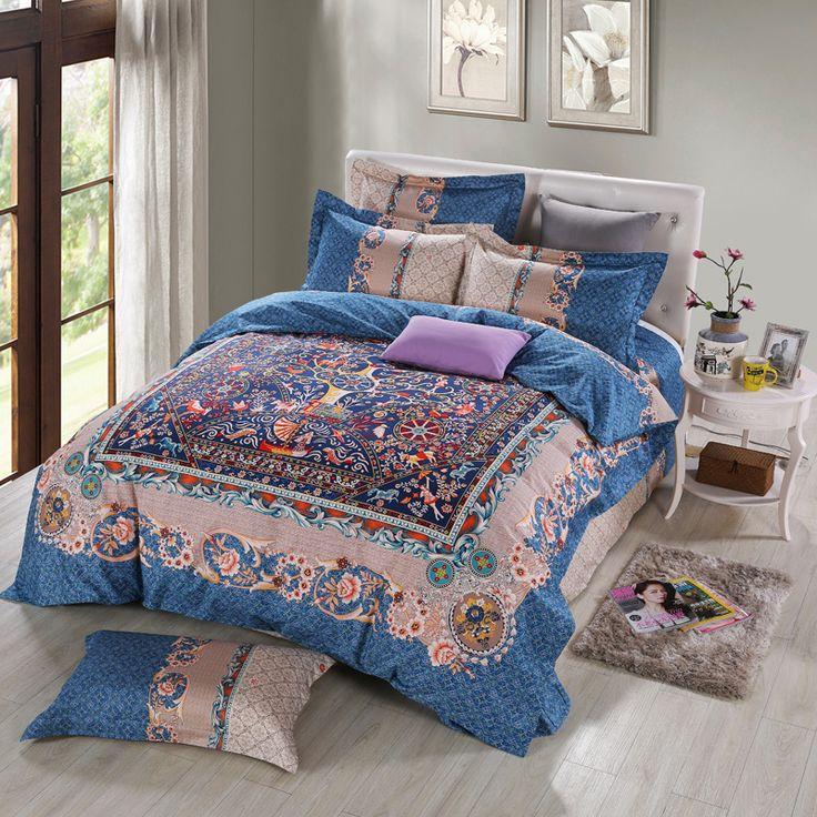 Elegant European Retro Bedding Sets Queen King Size Duvet Cover Pillow Case Bed Sheets High Quality Pure Cotton Bedroom Sets #Affiliate