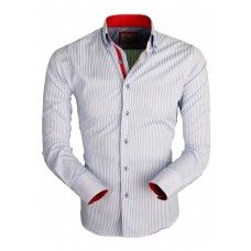 Wam Denim Heren Overhemd Stripe vind u in de webshop van Italian Style.