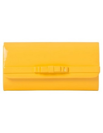 COLLECTION patent bow clutch in yellow #cupday #myerspringfashion