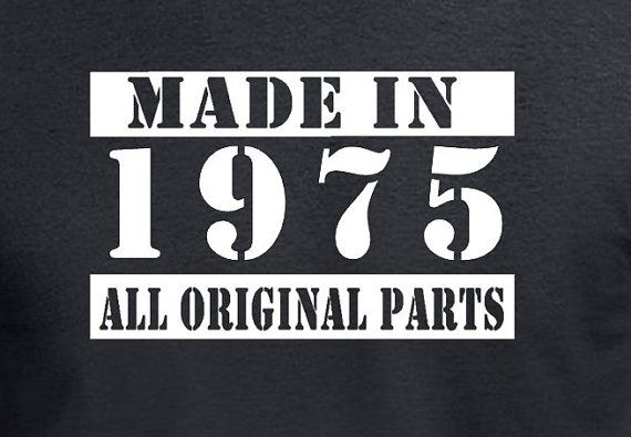 Made In 1975 Gift Age 40 Years Old 40th Birthday by DesignDepot123