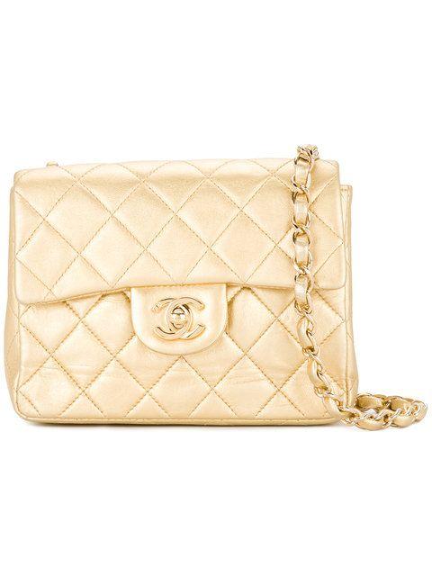 Chanel Vintage Metallic Quilted Shoulder Bag in 2018  8c1dee9522