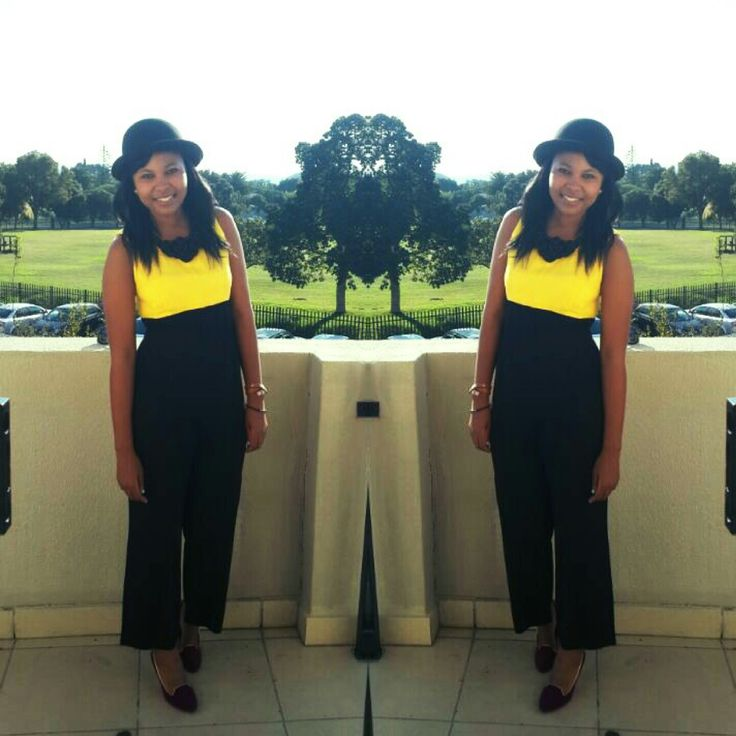 All In One Piece #Black and Yellow, Black and Yellow You Know What It Is #Vintage Piece from my Aunt