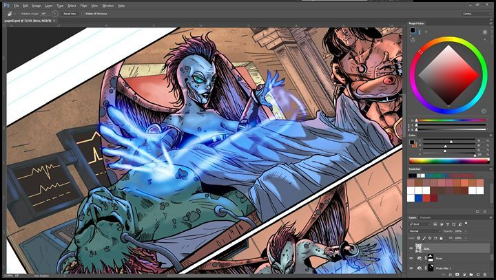 ok all seems to be working fine on facebook now one more test to see if everything is correct on Pintrest Linkdin Twitter and Tumblr.  Hopefully this is the last one :D  About the image: Project currently working on for Wayward Raven Media Pencils and Inks by Pedro André Pimentão Colors by Nimesh Morarji's Art #Comics #MakeComics #ScifiComics