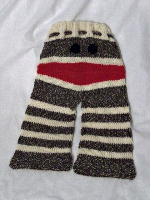 Knitting Patterns For Sock Monkey Clothes : Sock Monkey Longies Free Ravelry Pattern Knit & Crochet Pinterest R...