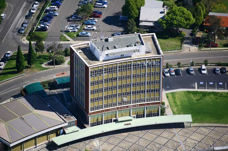 View of the Ryde Civic Centre, Devlin Street, Ryde from above. #Ryde #TopRyde #Council #CivicCentre #RydeLocal #CityofRyde