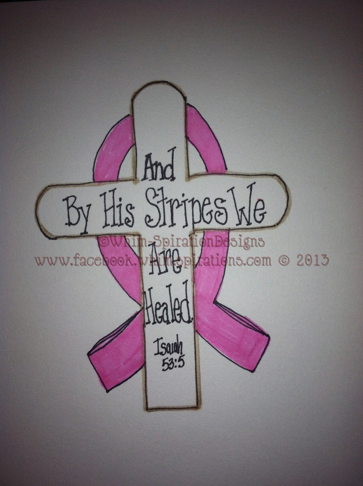 """""""Hope and Healing"""" Breast Cancer Awareness Design.Have put on Canvas,framed Art,Slate Welcome Sign,Greeting Card or on """"Hope & Healing Box"""" filled with 30 Healing and Inspirational Daily Scriptures to pull one out and Meditate on."""