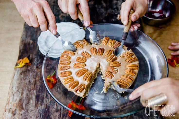 Pecan pie...no cream, no sugar, no bad ingredients that will harm you. chefcynthialouise.com