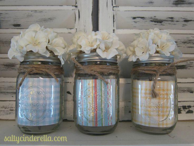 summer mason jar decor