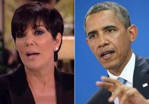 "Always on team Kardashian | Watch out, Obama. President or no, Kris Jenner has some angry words for the politician over comments he made about her daughter Kim Kardashian. On her talk show ""Kris,"" Jenner took a moment to address an offhand remark Obama made in a Kindle interview, in which the POTUS looked at the change in the way American children think."
