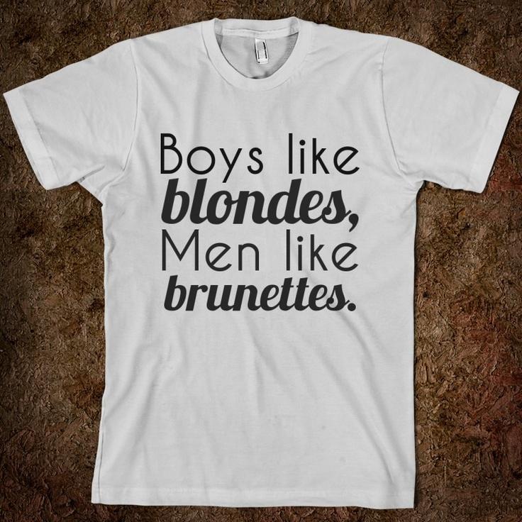 Boys like Blondes, Men like Brunettes