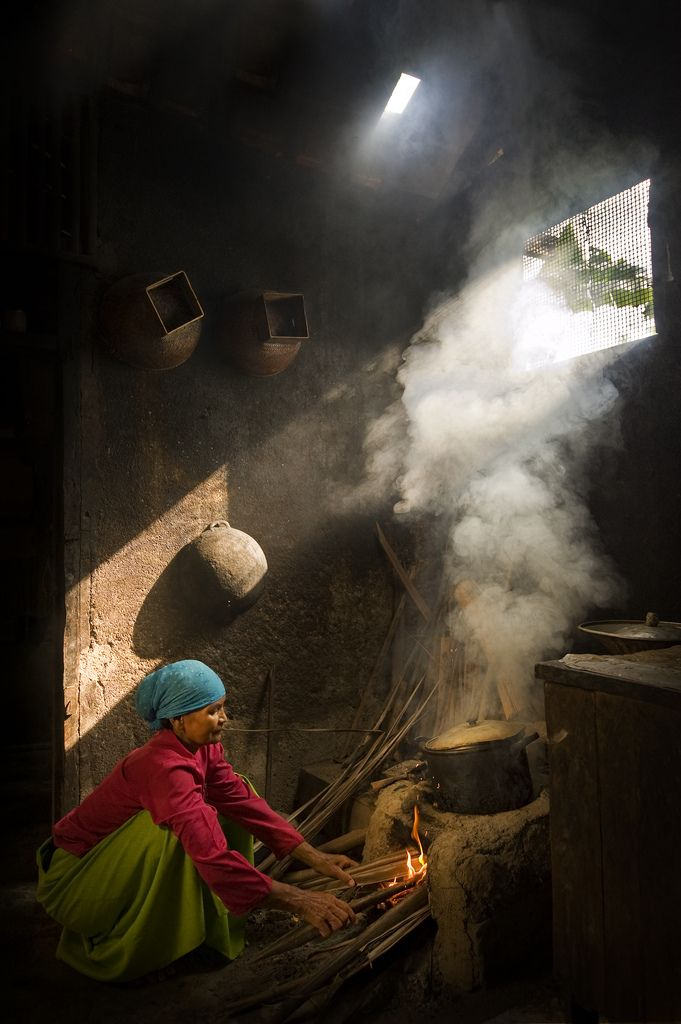 The Old Kitchen . Java, Indonesia