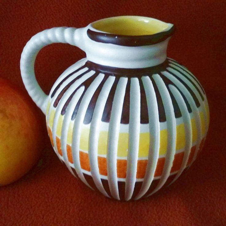 Sehr seltene Vase, oder Krug, Ilkra Jlkra, 50er Jahre Dekor Hawaii Form 104-10  | eBay