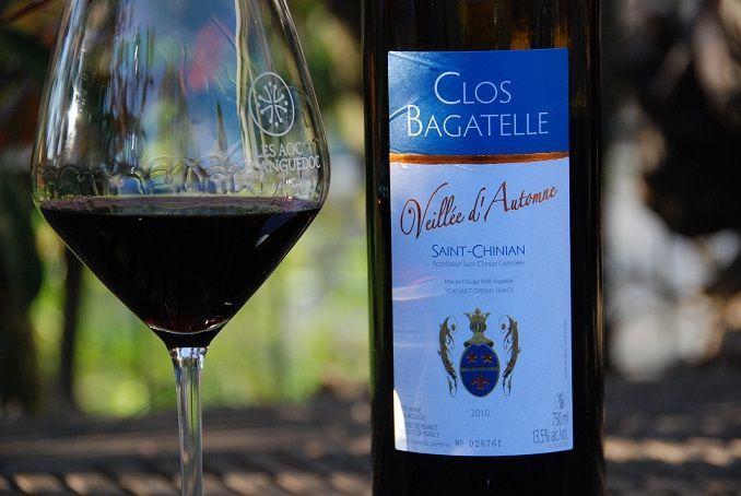 """Saint-Chinian du Clos Bagatelle """"Veillée d'Automne"""" 2011 - Dégusté au printemps 2014 et extrêmement savoureux..."""