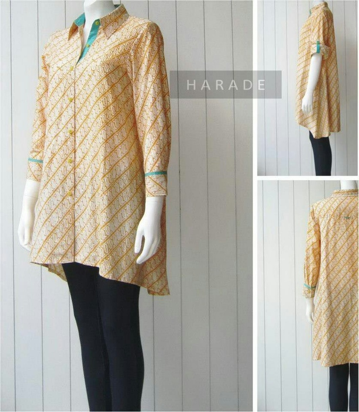 yellow penguin batik blouse