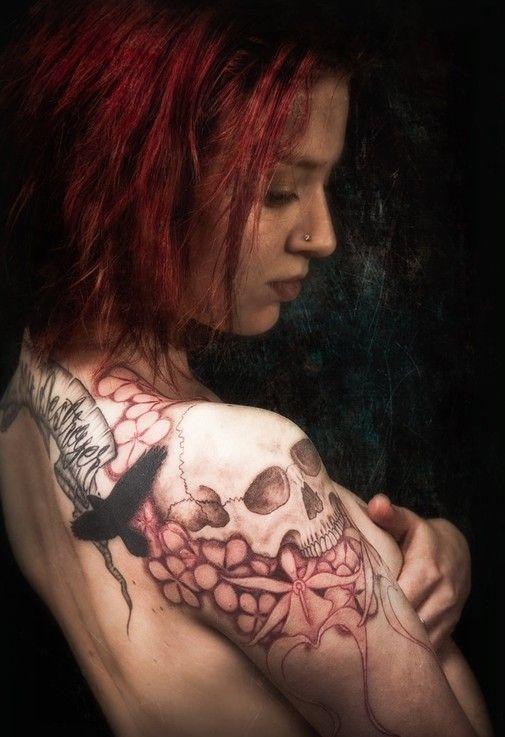 Skull tattoos designs for girls