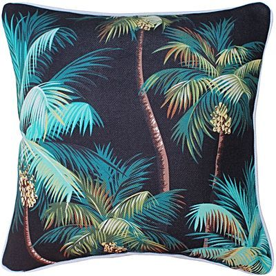 Oasis Palm Trees Outdoor Cushion