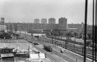 Fotka: Ulica Februárového víťazstva (Račianska) 6.5.1965. Križovatka s Jarošovou ešte neexistuje. Zdroj: Mano Jakub  #Slovakia #Bratislava #oldTimes #Racianska #Slimak