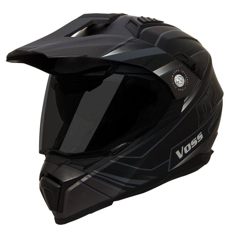 601 D2 Dual Sport Helmet - Two Tone Stealth