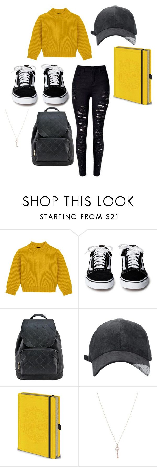 """""""hufflepuff"""" by shannon-tilley on Polyvore featuring Comme Moi and Tiffany & Co."""
