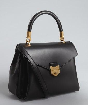 Yves Saint Laurent : black leather \u0026#39;Purely\u0026#39; crossbody bag | Bag ...