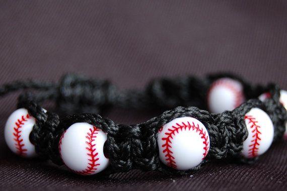 Baseball Bracelet /  Trendy Baseball Mom / by DiamondDivas33, $7.95