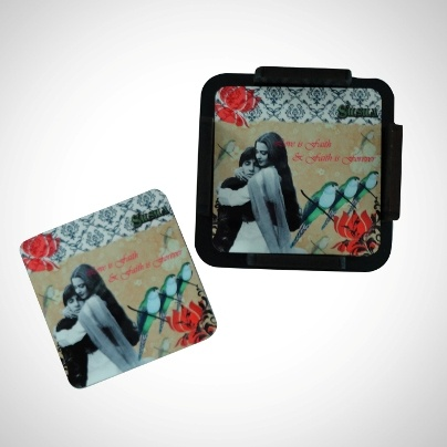 Glazed Coasters With Stand 'Silsila' Imprint  Now At Rs. 575.00