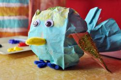 Crafts for Kids Blog » Tutorial : Toilet Paper Roll Fish