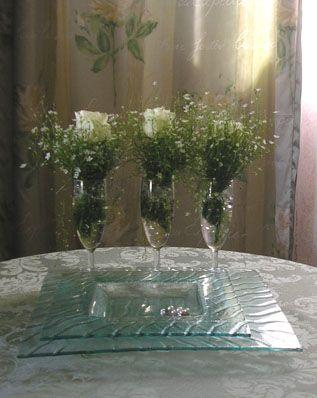 Bordpynt til min sønns bryllup. Roser og klengemyre.