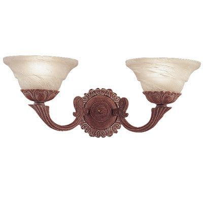 Classic Lighting Bordeaux 2 Light Wall Sconce Finish: Weathered Clay